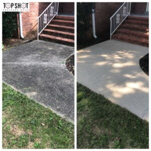 concrete wash before and after