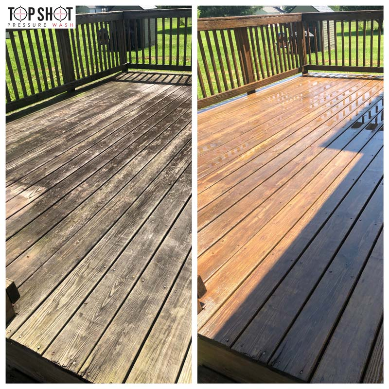 deck wash before and after